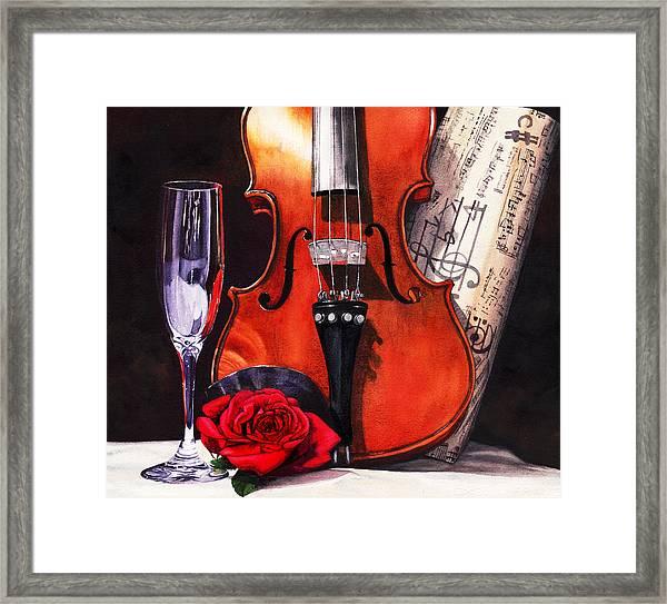 After The Serenade Framed Print