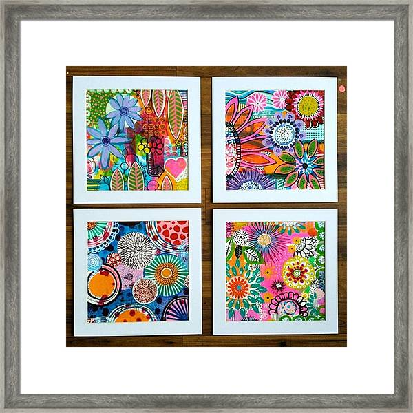 After Working On About 12 Pieces..i Framed Print