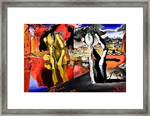 Aftermath Of Narcissus - After Dali- Framed Print