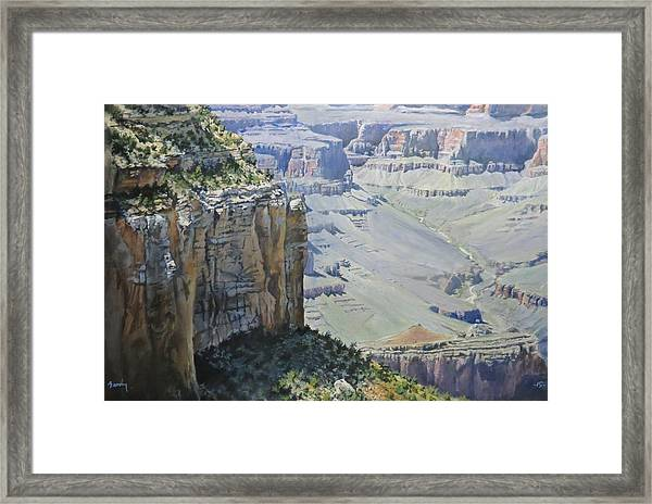 Afternoon At The Canyon Framed Print