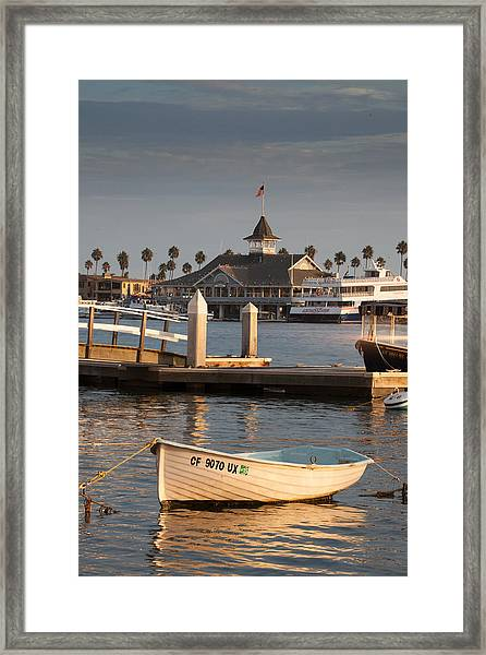 Afternoon Light Balboa Island Framed Print