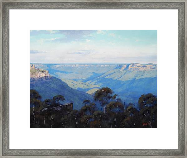 Afternoon Light Jamison Valley Framed Print by Graham Gercken