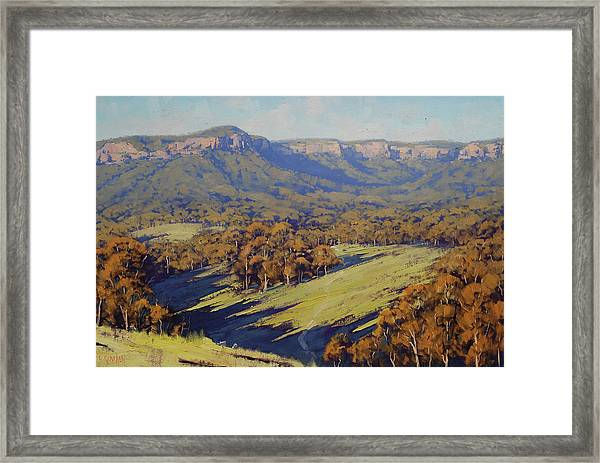Afternoon Light Megalong Valley Framed Print by Graham Gercken