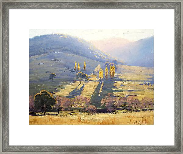 Afternoon Light Tarana  Framed Print