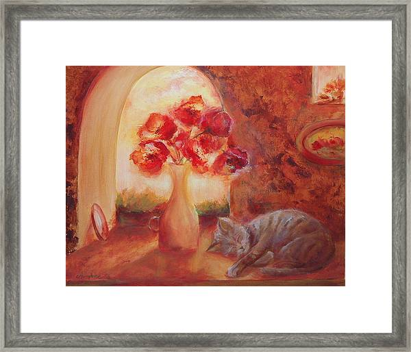 Afternoon Nap Framed Print by Aneta  Berghane