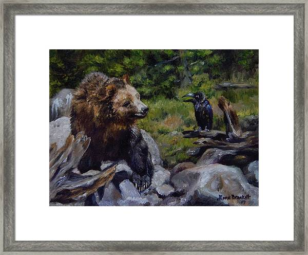 Afternoon Neigh-bear Framed Print