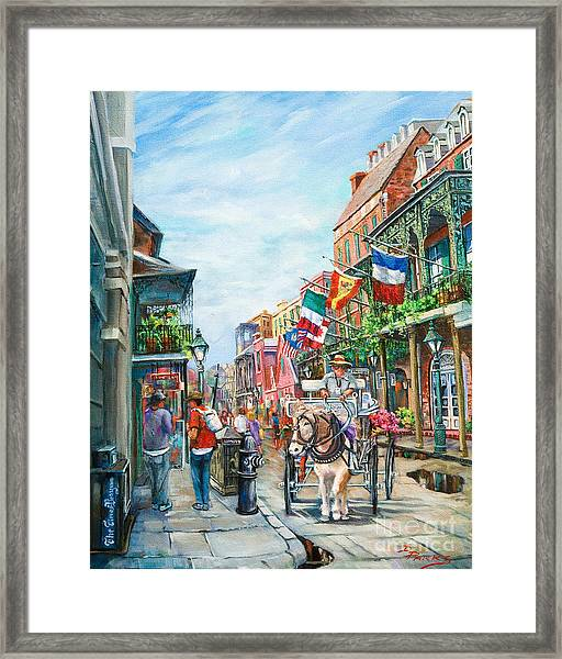 Afternoon On St. Ann Framed Print