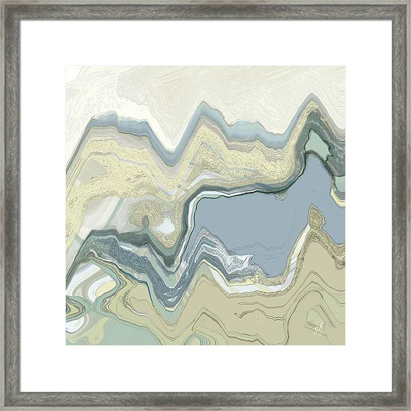 Framed Print featuring the digital art Agate by Gina Harrison