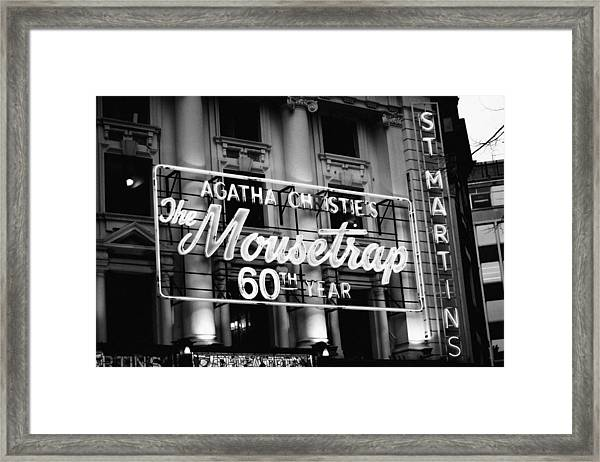 Agatha Christie's The Mouse Trap 60th Anniversary Framed Print