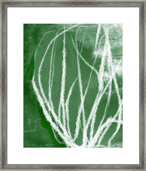 Agave- Abstract Art By Linda Woods Framed Print
