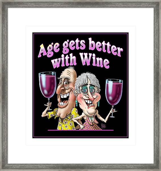 Age Gets Better Couple Framed Print