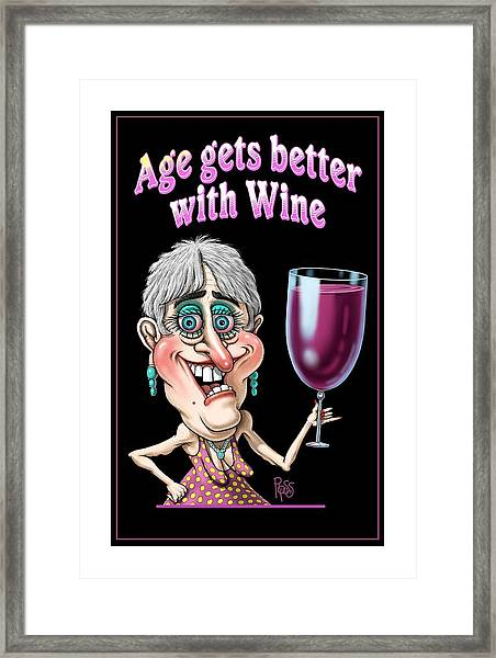 Age Gets Better Woman Framed Print