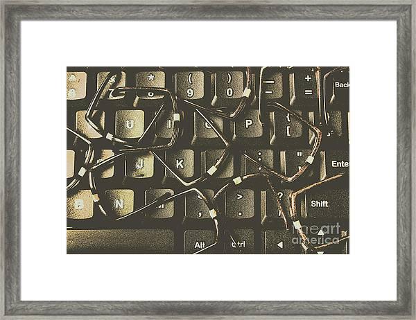 Age Of Decentralisation Framed Print
