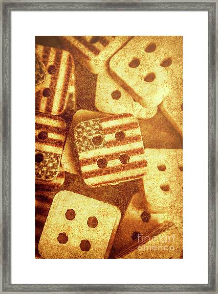 Age Old Fashion Buttons Framed Print