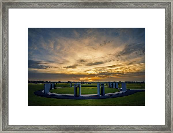 Aggie Bonfire Memorial Framed Print