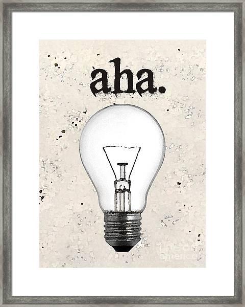 Aha Moment Framed Print