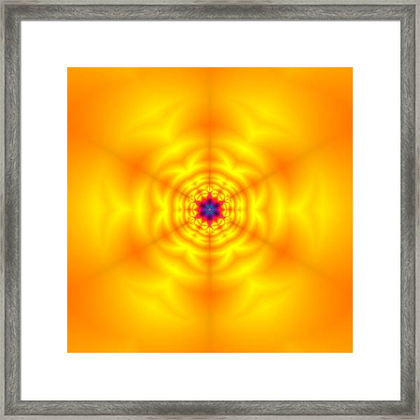 Framed Print featuring the digital art Ahau 6 by Robert Thalmeier