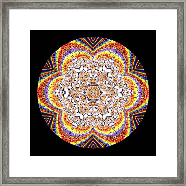 Framed Print featuring the digital art Ahau 6.2 by Robert Thalmeier