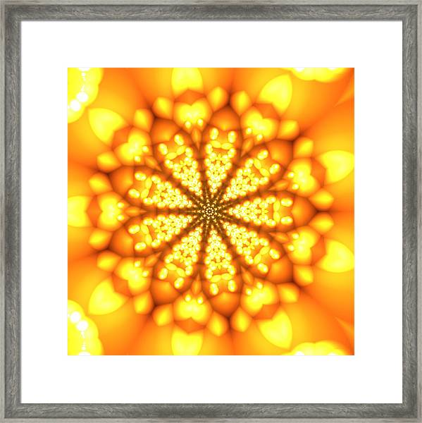 Framed Print featuring the digital art Ahau 9 by Robert Thalmeier