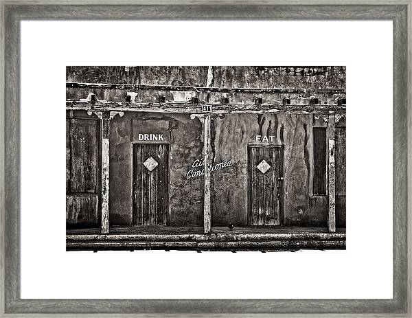 Air Conditioned Framed Print
