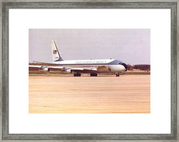 Air Force One At Andrews Air Force Base Framed Print