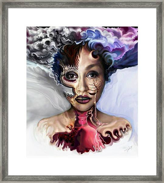 Air Oil Ash Framed Print