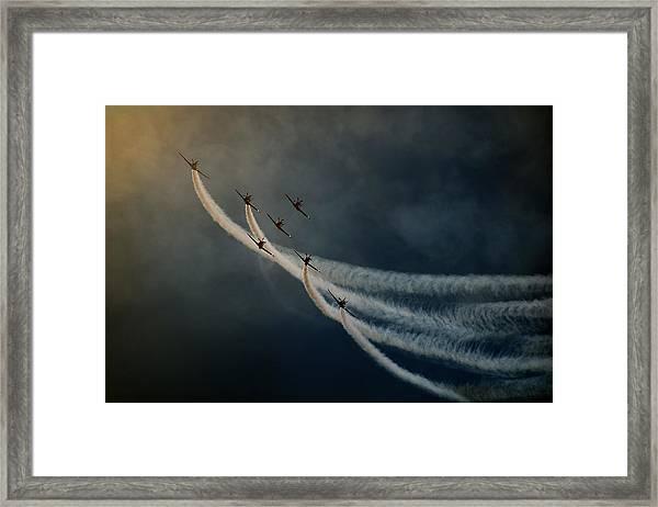 Air Show. Framed Print by Antonio Grambone