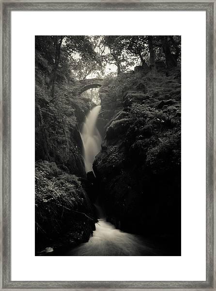 Aira Force - Black And White Framed Print