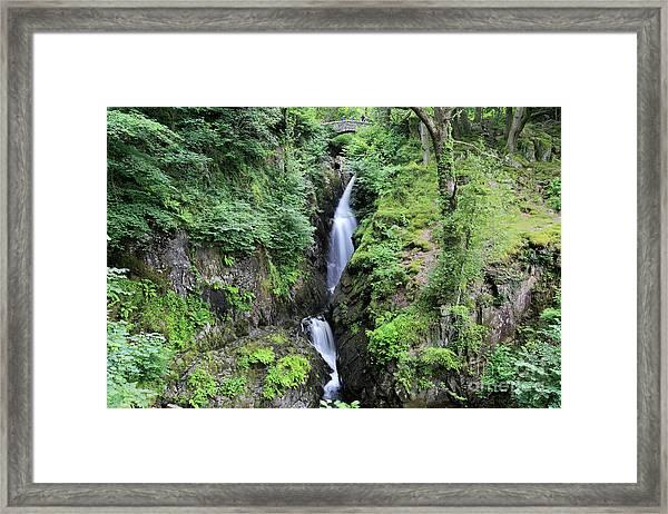 Aira Force Waterfall, Aira Beck, Ullswater, Lake District Framed Print