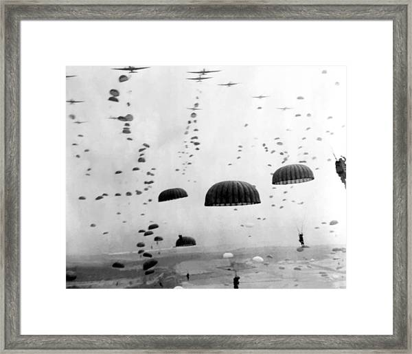 Airborne Mission During Ww2  Framed Print