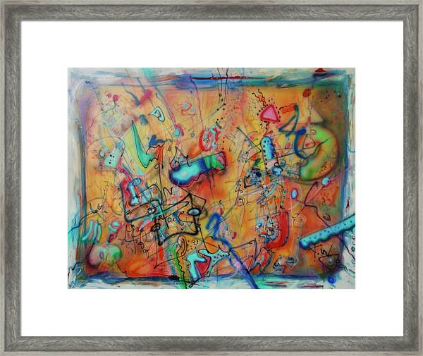 Digital Landscape, Airbrush 1 Framed Print
