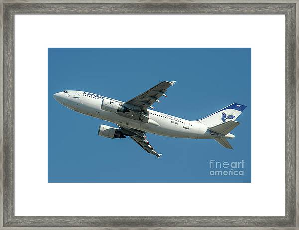 Airbus A310 Departed From Malpensa Airport  Framed Print