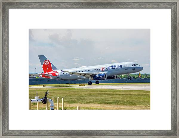 Airbus A320 Boston Strong Framed Print
