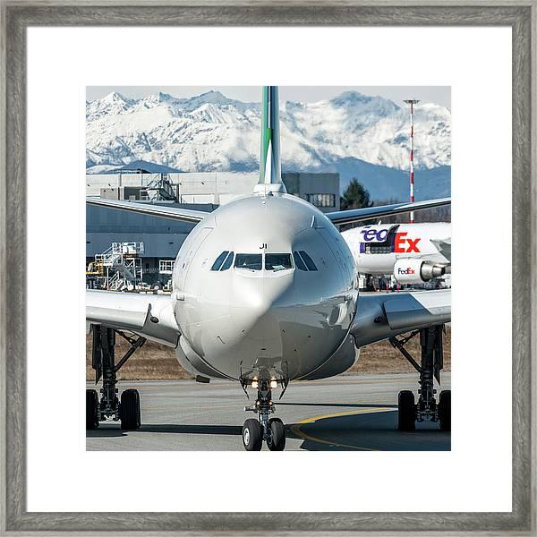Airbus A330 Alitalia Nose Ei-eji Framed Print