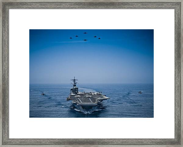 Aircraft From Carrier Air Wing Framed Print