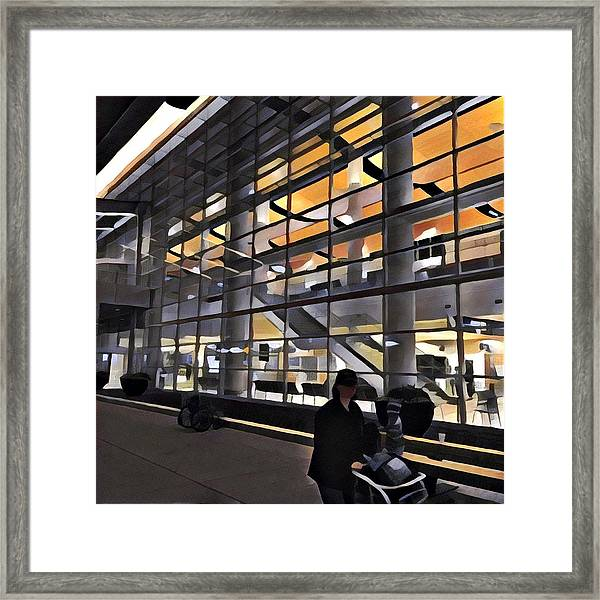 Airport 1.30am Framed Print