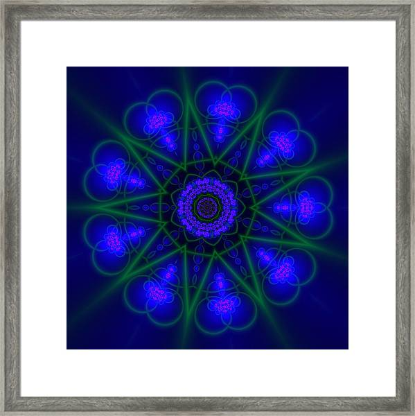 Framed Print featuring the digital art Akbal 9 Beats by Robert Thalmeier