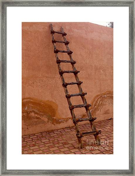Framed Print featuring the photograph Al Ain Ladder by Barbara Von Pagel