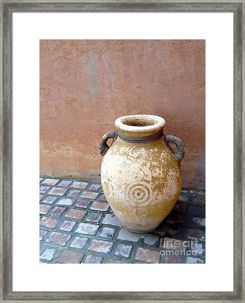 Framed Print featuring the photograph Al Ain Urn by Barbara Von Pagel