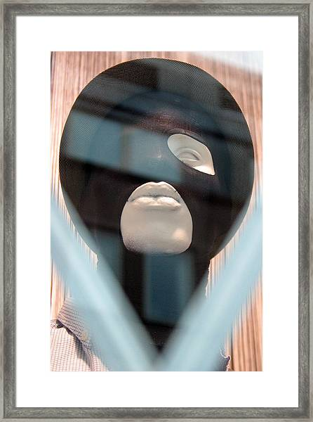 Al Jolson Mask Framed Print by Jez C Self