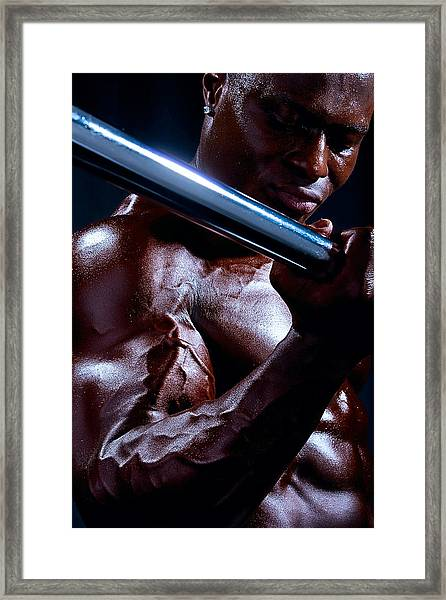 Al Work Out Color 1 Framed Print