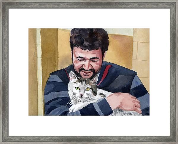 Alaa And Samson Framed Print