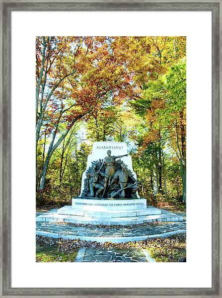 Alabama Monument At Gettysburg Framed Print