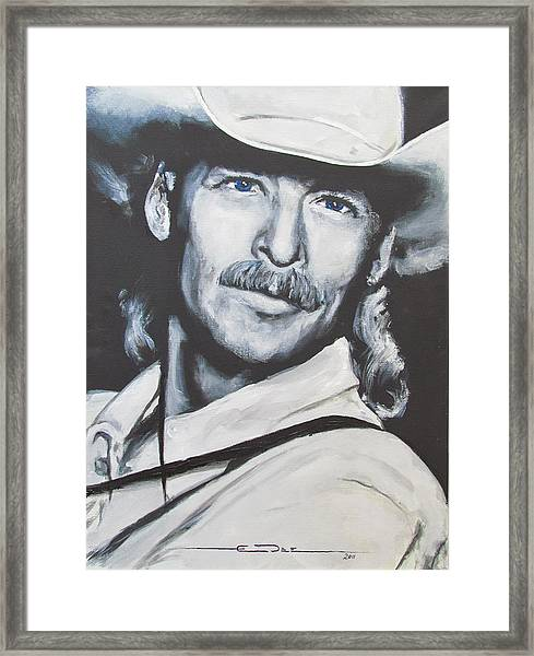 Alan Jackson - In The Real World Framed Print