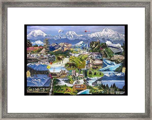 Framed Print featuring the photograph Alaska In One Photograph by Claudia Abbott