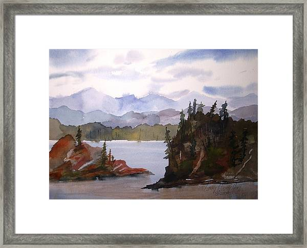 Alaska Inside Passage Framed Print
