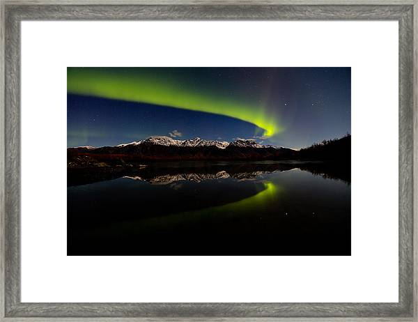 Alaska Northern Lights Framed Print by Sam Amato