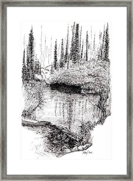 Alaska Pond Framed Print