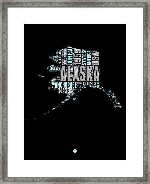 Alaska Word Cloud 1 Framed Print