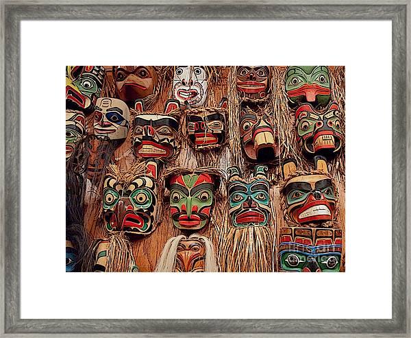 Alaskan Masks Framed Print